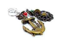 Keychain on white background Royalty Free Stock Images