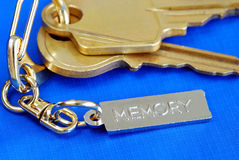 Keychain with the word Memory Stock Photo