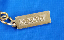 Keychain with the word Memory. Concepts of dementia or lost memory Stock Photos