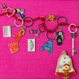 Keychains Fotografia Stock