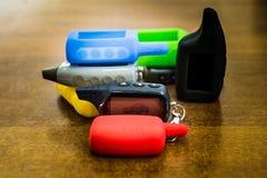 Keychains de l'alarme images stock