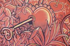 Keyed heart wall Royalty Free Stock Photos