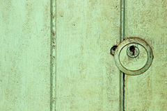 Keyhold στην κατασκευασμένη πόρτα Στοκ εικόνες με δικαίωμα ελεύθερης χρήσης