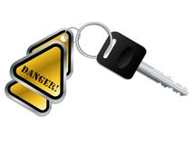 Keyholder with text chained to key Royalty Free Stock Photos