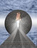 Keyhole в сфере Стоковое Изображение