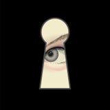 keyhole глаза иллюстрация вектора