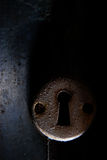 Keyhole. Close up view of a rusty keyhole Stock Photography