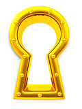 Keyhole. 3d Royalty Free Stock Image