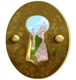 keyhole stock illustrationer