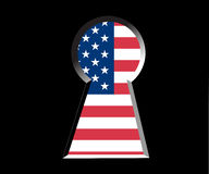 Keyhole and America Royalty Free Stock Photography