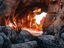 Keyhole Arch at Pfeiffer Beach stock image
