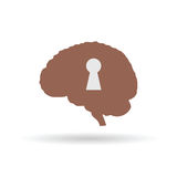 Keyhole on the brain vecto Royalty Free Stock Photo