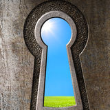 Keyhole concept Royalty Free Stock Image