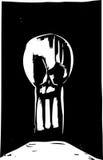 keyhole czaszka Fotografia Royalty Free
