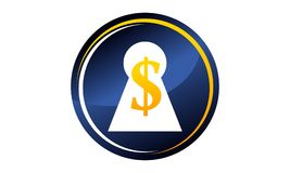 Keyhole Dollar Success Royalty Free Stock Photo