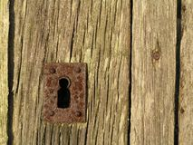 Keyhole in door Royalty Free Stock Photos