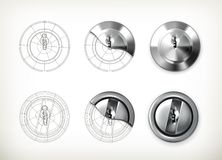 Keyhole drawing Royalty Free Stock Photos