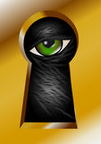 Keyhole and eye Stock Image