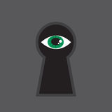Keyhole Eye Royalty Free Stock Photo