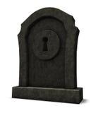 Keyhole on gravestone Stock Image
