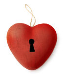Keyhole heart Royalty Free Stock Images