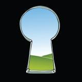 Keyhole illustration Stock Photography