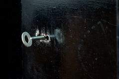 Keyhole in the iron door Royalty Free Stock Image