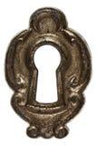 Keyhole, isolated on white background Royalty Free Stock Photo