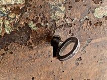 Keyhole with key Stock Photo