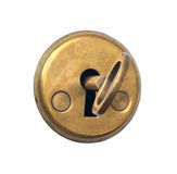 Keyhole and key. Royalty Free Stock Photo