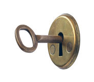 Keyhole and key. Royalty Free Stock Photography