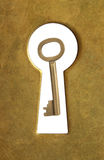 Keyhole and key. Royalty Free Stock Image