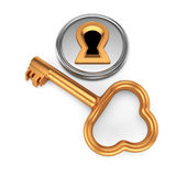 Keyhole and key Stock Photography