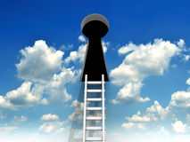 Keyhole and ladder Royalty Free Stock Images