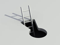 Keyhole and ladder Stock Image
