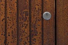 Keyhole na obieranie farby teksturze Fotografia Royalty Free