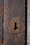 Keyhole of old doorlock Stock Images