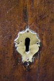 Keyhole of old doorlock Royalty Free Stock Image