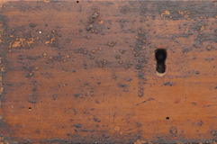 Keyhole In Old Wood Background Stock Image