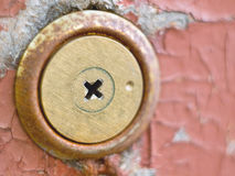 Keyhole over aged Royalty Free Stock Photo
