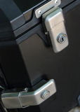 Keyhole security lock on the box Royalty Free Stock Image