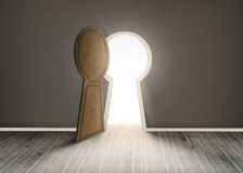 Keyhole shaped doorway Royalty Free Stock Photography