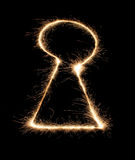 Keyhole sparkler to holiday Stock Photo