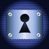 Keyhole. On a steel plate. Vector illustration Stock Image