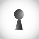 Keyhole to success Royalty Free Stock Image