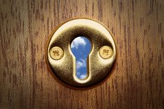 Keyhole view Royalty Free Stock Photo