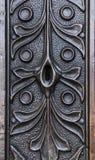 Keyhole w forged drzwi zdjęcie stock