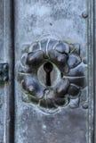 Keyhole w forged drzwi fotografia stock
