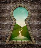 Keyhole Wonderland Royalty Free Stock Image