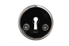 Keyhole zakończenie na białym tle Zdjęcie Royalty Free
